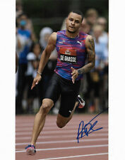Andre De Grasse Autographed 8X10 Photo