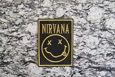 NIRVANA GRUNGE SMILEY FACE ALTERNATIVE PUNK ROCKABILLY IRON ON PATCH