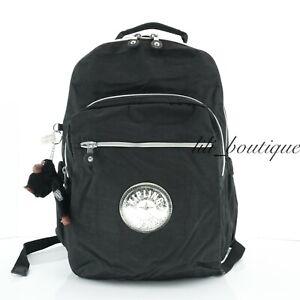 NWT Kipling KI1275 Seoul Go Backpack Laptop Travel Nylon Black GPL SilverGlitter