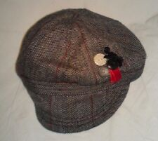NWT Girls TARGET Cute Plaided Cabbie/Cycle Hat w/Button Decoration One Size