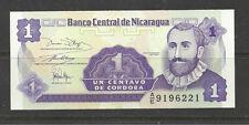 NICARAGUA - 1 CENTAVO BANKNOTE. -  UNCIRCULATED.