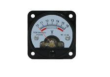 10 -16V DC Analog voltmeter for battery monitoring instrument, Gauge panel meter