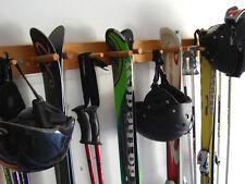 Snow Ski Storage Rack, Wall Mount, 4 Ski by Willow Heights Designs