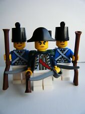 NEW LEGO PIRATE IMPERIAL BLUE COAT SOLDIER MINIFIGURES & WEAPONS MADE OF LEGO