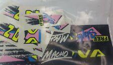 Super rare Canadian NOS Old school Nova freestyle Macho BMX Decal sticker set