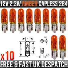 12v 2.3w T5 WY2.3W Dashboard, Indicator & Panel Flasher Amber Lamp R284A x 10