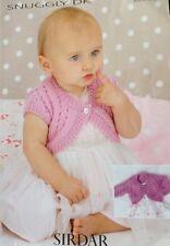sirdar Girl Knitting Pattern Cardigan Shrug DK 1722 Size Babies girls