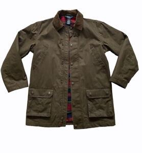 Polo by Ralph Lauren Oil-Cloth jacket plaid Lining corduroy * Read Description*