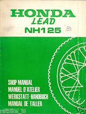 HONDA LEAD NH125 SHOP MANUAL SCOOTER 1983,DAX,CT,CZ,