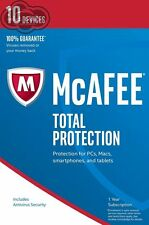 McAfee Total Protection 2017 1 Year 10 Devices