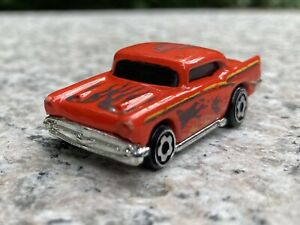 1979 Hot Wheels Micro Color '57 Chevy 1/87 Die Cast Mattel Red