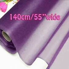 2 Yards Dewberry Pure Silk Organza Bridal Dress Fabric 140cm Sheer Tulle Voile