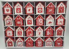 24 x Bird House box Advent Calendar Wooden Christmas fill your own decoration A3