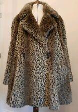 ❤ WALLIS ❤ Leopard Print Faux Fur Animal Coat 18 20 22 24 *EXCELLENT CONDITION*