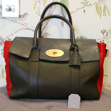 Mulberry Large Bayswater Buckle Colour Block  with Calf Leather Tote Handbag New