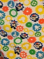 Vintage Disney Mickey Mouse Dundee Toddler Crib Sheet Fitted Top Sheet