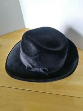 HALLOWEEN ACCESSORY  HAT                 Black Felt Fedora Gangster Hat $8.99