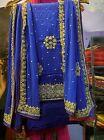 Punjabi Patiala pakistani Designer Indian SALWAR KAMEEZ wedding wear stone suit