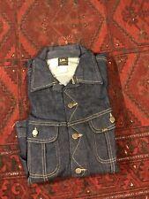 Vintage NEW LEE 101J Denim Jacket Mens 42 REG Sanforized Western Biker USA Made