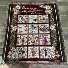 """Vintage Beacon Tapestry Woven Fringed Blanket 12 Days of Christmas 52"""" X 60"""""""