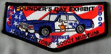 OCCONEECHEE OA LODGE 101 PATCH NOAC 2002 FOUNDER'S DAY POLICE CAR DELEGATE FLAP
