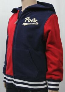 Children POLO Ralph Lauren Red Navy Blue Jacket Hoodie NWT