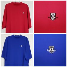 Footjoy FJ Golf Set Of 2 Shirts Blue And Red Crew Neck Size XL