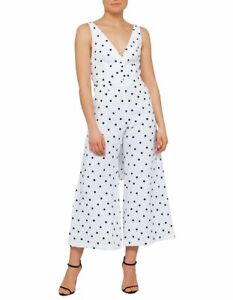 Bec and Bridge Havana Nights Spot Jumpsuit Linen Blend Size 8 RRP $370 NEW