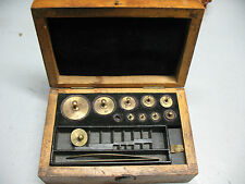 BRASS  SCALE  WEIGHTS  IN GRAMS   WITH ORIG. CASE