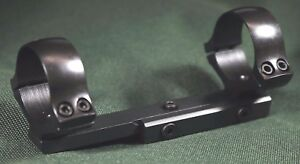 BAIKAL rifle scope mounts, 30mm rings and bases, STEEL MATTE finish.
