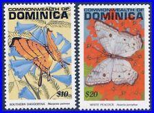 DOMINICA 1991 BUTTERFLIES INSECTS($10 & $20) SC# 1391A-B MNH CV$23.00 (D0433)