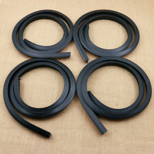 4pcs 1.5m Black Car SUV Wheel Fender Extension Moulding Flares Trim Strip Edge