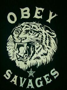 OBEY MUSCLE SAVAGES Melt Dot Logo Tank MENS L SINGLET SINCE 1989