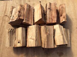 20 Large BBQ & smoker chunks kiln dried Apple & Oak