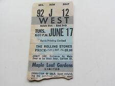 THE ROLLING STONES TICKET  14TH JUNE 1975, MAPLE LEAF GARDENS, TORONTO,  CANADA