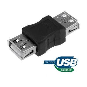 USB Femmina  Femmina Adattatore A-A Prolunga Connettore Adatta per Cavo Tipoh