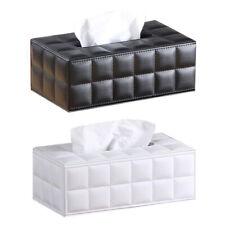 2 Color PU Leather Tissue Box Car Home Hotel Paper Napkin Holder Case Organizer