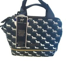 Dabney Lee Horse Insulated Lunch Tote box  XL Hot/Cold Food 2 Compartments Navy