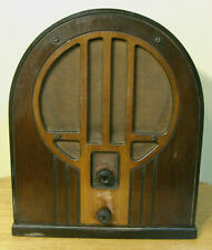 NICE PHILCO 1934 MODEL 84 AM CATHEDRAL TUBE RADIO, WORKING CONDITION