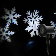 Snow Falling LED Laser Projector Light Xmas Snowflakes Night Christmas Lamp