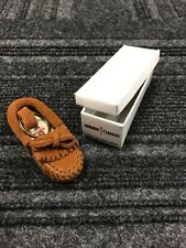 Minnetonka Miniature Moccasin Shoe Key Ring Chain Suede Leather Purse Jewelry