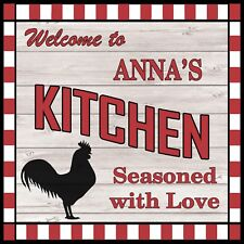 Anna's Kitchen Welcome to Rooster Chic Wall Art Decor 12x12 Metal Sign SS61