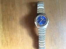 VINTAGE SEIKO 5 7006-8830 MEN'S WATCH 17 JEWEL AUTOMATIC 1990S gold with BLUE