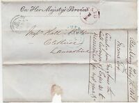 * 1851 OHMS TAXES WRAPPER TO CLITHEROE RED ENCIRCLED PAID 1 BLACKBURN UPP LANCS