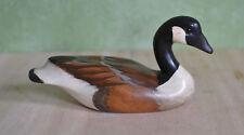 Wooden Bird Factory Made USA Handcarved Canada Goose Sculpture 1984 Denzer 8""