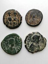 Four Large Byzantine Follis 300-1400 Ad