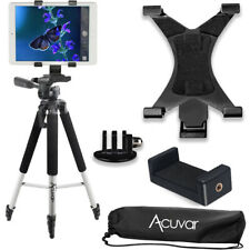 "Acuvar 57"" inch Pro Tripod, Tablet Mount + Smartphone Mount + Mount for GoPro"