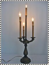 Vintage Mid Century Hollywood Regency 4 Light Candelabra Table Lamp  #2 of 2