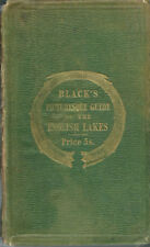 VERY EARLY BLACK'S PICTURESQUE GUIDE TO THE ENGLISH LAKES - 1858 - 4 maps