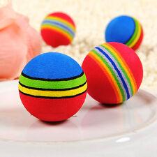 2Pcs Rainbow Toy Ball Small Dog Cat Pet Eva Toys Golf Practice Balls Hot